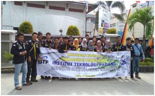Kunjungan Industri mahasiswa Teknik Sipil D3 ke bending Bendung Saweh Laweh, Tarusan pada bulan Maret 2018.