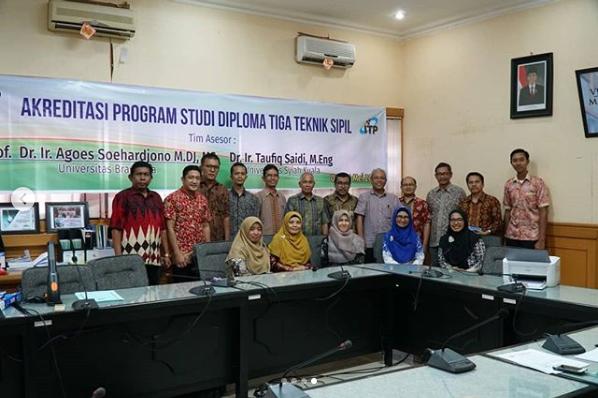 Visitasi dilakukan Oleh BAN-PT dengan Tim Asesor Prof. Dr. Ir. Agoes Soehardjono MDj, MS dari Universitas Brawijaya Malang, dan Dr. Ir. Taufiq Saidi, M.Eng dari Universitas Syiah Kuala Aceh.