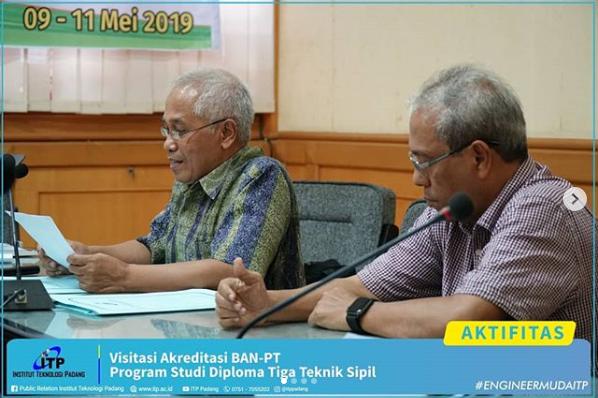 Kegiatan Visitasi Akreditasi Program Studi Diploma 3 Teknik Sipil, 9-11 Mei 2019.